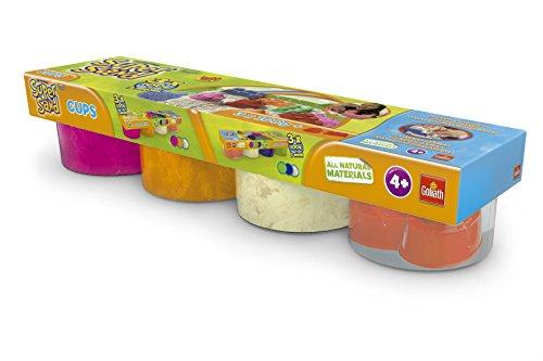 Super Sand - Botes de arena, color naranja / rosa / blanco / molde, pack de 4 (Goliath 83223006)