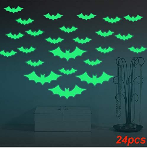 Meaosy Heißer Verkauf 24 Teile/Satz Leuchtende Wandaufkleber Halloween Fledermäuse Decor Decals Kinder Kinder Zimmer Cartoon ()
