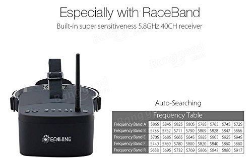 EACHINE EV800 FPV Brille 5 Inch 800x480 FPV Goggles 5.8G 40CH Raceband Auto-Suche Eingebaute Batterie für Quadrocopter - 5