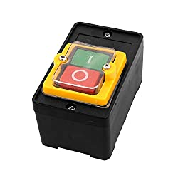 Sourcingmap® Ac 220v 10a 2 Positionen 3p Einaus Rastung Wasserdicht Druckknopf Schalter De