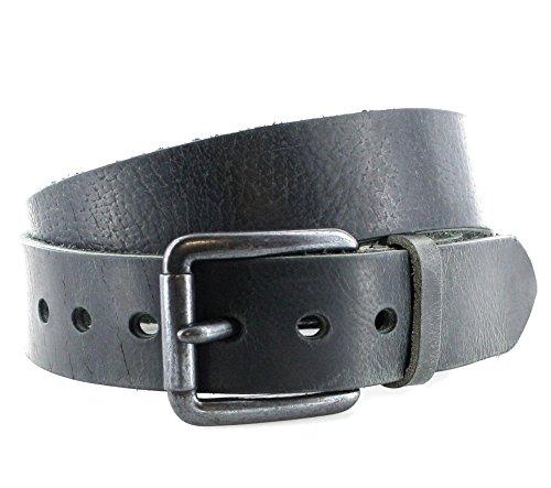 SDV vV001 & ceinture en cuir pour homme noir - Noir - 100