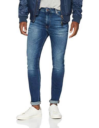 d2bc93a0d15b Tommy Jeans Hombre Simon Vaqueros skinny Azul (Wilson Mid Blue Stretch 911)  W30