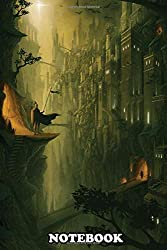 """Notebook: The Lost City Digital Painting , Journal for Writing, College Ruled Size 6"""" x 9"""", 110 Pages"""