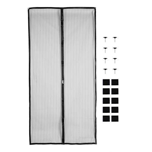 GreatWall 110 × 220cm Fliegengitter Tür Magnetisch Insektenschutz Balkontür Fliegenvorhang Magnetvorhang Tür für Balkontür Wohnzimmer Schiebetür, Kinderleichte Klebemontage Ohne Bohren