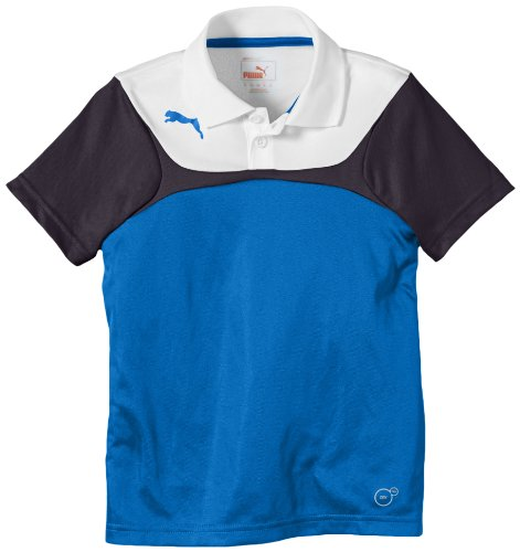 PUMA, Polo Bambino Leisure, Blu (Puma Royal/white), 140 cm