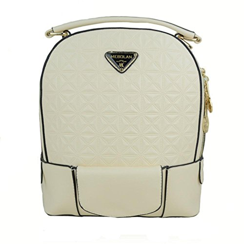 GBT Weiße Rucksack-Freizeit-Beutel-Handtasche White