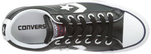 Converse Sp Core Lea Ox, Baskets mode mixte adulte Noir (Noir/Blanc)