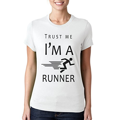 Trust Me I'm A Runner Damen T-Shirt Weiß