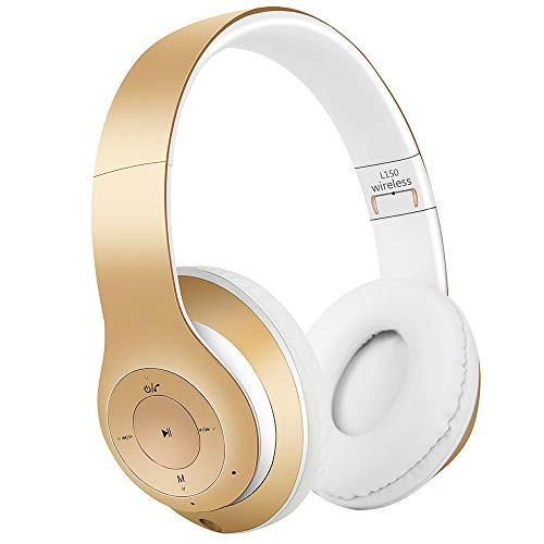 AndThere Bluetooth Cuffie Stereo Senza Fili Cuffie con Microfono Riduzione del Rumore Over Ear Cuffie Pieghevoli Auricolari On Ear...