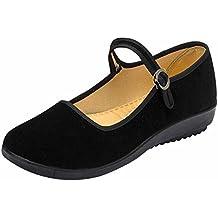 Zapatos negros Hibote para mujer lfHDcnCbk