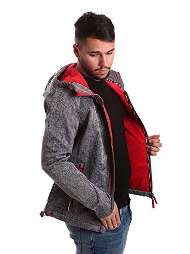 Superdry Herren Sportjacke Hooded Windtrekker Grau