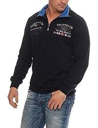 Benter Hombre Algodón Jersey Sudadera Con Capucha Suéter De Invierno con cuello alzado Bordado Logo Parches