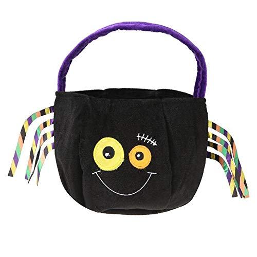 KDGB Halloween Süßigkeiten Geschenke Tasche Baby Bat Spinne Samt Süßigkeiten Handtasche Kinder Party Geschenke Korb Container Halloween Requisiten (3) (Für Geschenk-körbe Halloween)