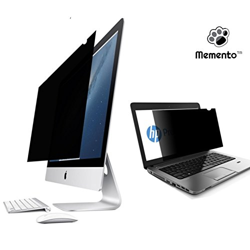 Memento 90° Angle Privacy Screen Filter   Removable, Anti-Glare Screen Protector for Laptop, TFT Monitor, Desktop PC, LCD LED Screen   Compatible with Apple iMac Macbook, DELL, SAMSUNG ACER, LENOVO, HP, COMPAQ, ASUS, SHARP, LG (14.1