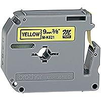 Brother MK621BZ Schriftbandkassetten gelb schwarz 8mx9mm nicht laminiert für P-touch 60 65 75 80 85 110
