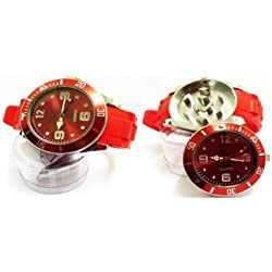 Stash Watch Grinder Real Size Real Grinder *** Six Colors Available *** (Red)