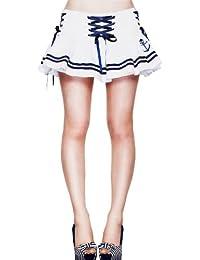 Hell Bunny Minifalda Motley Mini Falda White