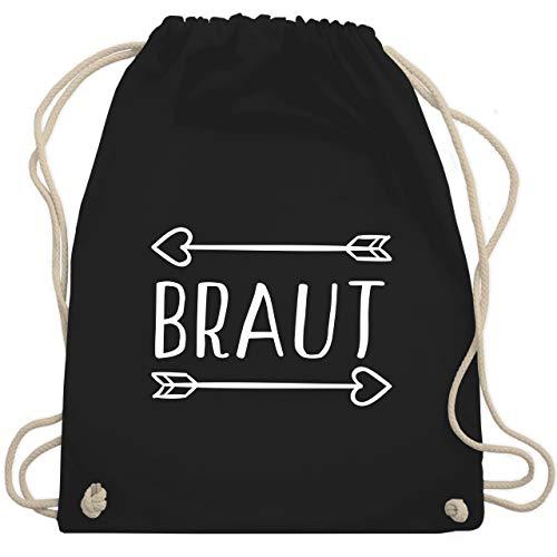 Vollen Kostüm Pfeil - JGA Junggesellinnenabschied - Braut Pfeile - Unisize - Schwarz - WM110 - Turnbeutel & Gym Bag