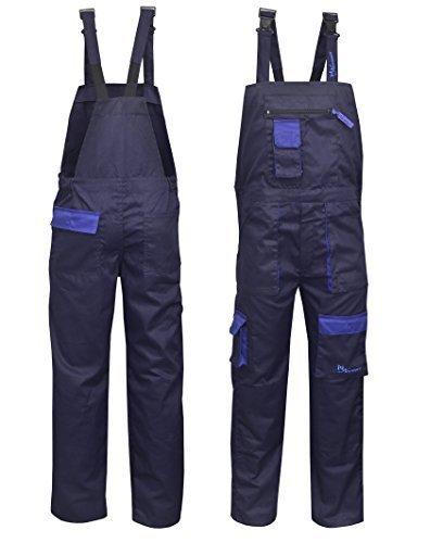 Norman marineblau Kontrast Maler Arbeitskleidung Latz und Klammer Overall OVERALL dungaress Schwerlast - Marineblau, Small