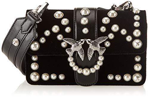 Pinko Mini Love Velvet Pearls C spallaccio Velluto+perle 4783a235c94