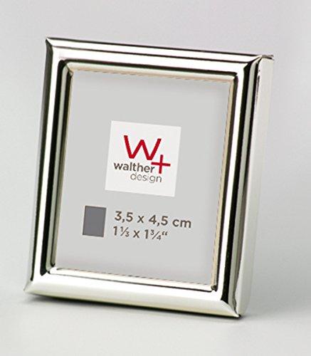 walther design WD354S Chloe Portraitrahmen 3, 5 x 4, 5 cm, silber