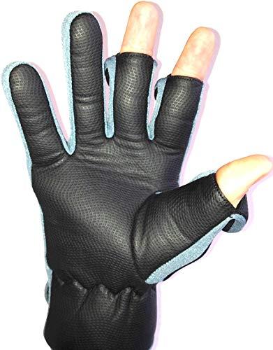 Neopren-Handschuhe mit Klettverschluss (umklappbares Fingerspitzenteil) von Easy Off Gloves –ideal zum Reiten, Schießen, Angeln, Radfahren, für Gartenarbeit, Fotografie, Heimwerker und als allgemeine Arbeitskleidung. (EU 11–XL) - 2
