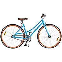 + ECO Blue/Red + Mujer Fixie, rueda de Star rgang Fixed Gear. +