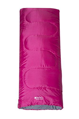 Mountain Warehouse Kids Sleeping Bag - Basecamp Camping Travel Season 1 Lightweight Lightweight Pink