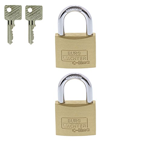 BURG-WÄCHTER Vorhängeschloss, 2er-Set, 6 mm Bügelstärke, 4 Schlüssel, Duo 222 40 SB - 5
