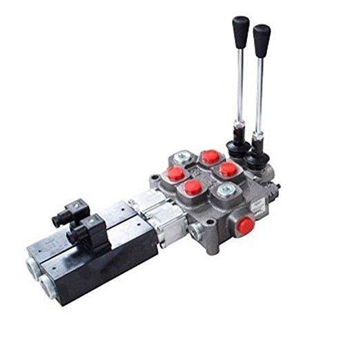 Doppia azione 2 banca cilindro, spool 3 posizioni, con ritorno a molla, 12 VDC,-Solenoide controllo (Valvola A 3 Spool)