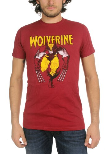 Wolverine On Red Men's T-Shirt im Vintage-Red Vintage Red