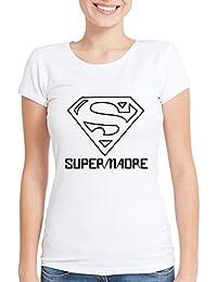c0850ec2e Regalo Original para Madres  Camiseta  SuperMadre  (Blanco