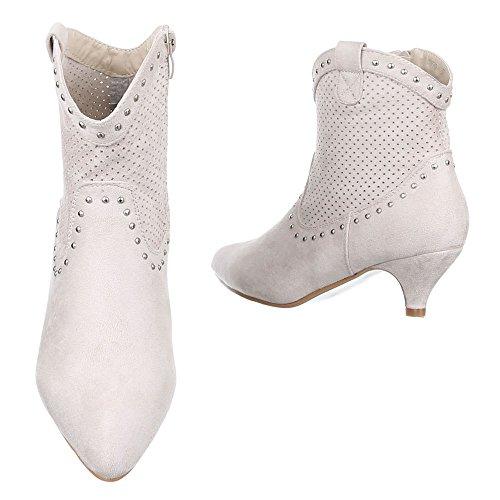 Ital-Design , Bottes et bottines cowboy femme Beige