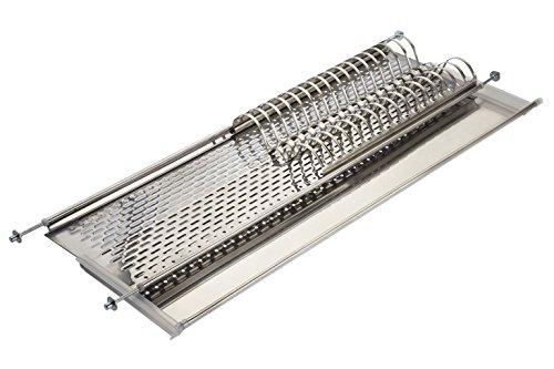 Elletipi Bridge - I850Combi176V01Escurreplatos para armario colgante de hoja basculante, 80cm, acero inoxidable