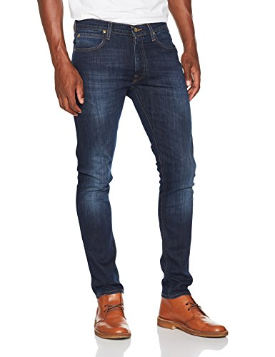 Lee Herren Tapered Fit Jeans Luke, Blau (True Authentic Gcby), W36/L32 (Luke Jeans)
