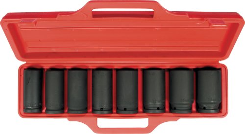 """3/4""""-Antrieb - Kraftsteckschlüssel-Satz/Schraubenschlüssel / Stecknuss-Garnitur, tiefe Ausführung, 8-tlg."""