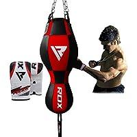 RDX 3 in 1 Boxsack Boxhandschuhe Doppelendball Boxen MMA SackBoxsack Set Kickboxen Training Gefüllt Gewicht