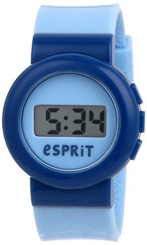 Esprit Jungen-Armbanduhr Digital Swap Blue Quarz Plastik