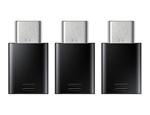 Adapter Typ B (Samsung EE-GN930KBEGWW USB-C auf Micro USB Adapter (3er Pack) schwarz)