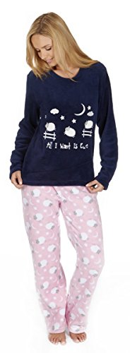 Per sempre Dreaming Soft Snuggle Fleece Twosie Pajama Set Blue Sheep