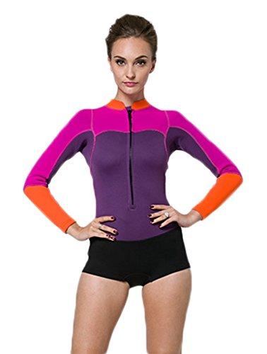 Damen Rosa UV Schutz Anzug Wetsuit Neoprenanzug Tauchanzug Wassersport short L neu