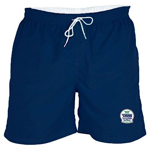 Pantaloncini Costume Da Bagno Da Uomo DUKE D555 Nuovo Yarrow Grande Misura King Trunks Spiaggia Pantaloni Lunghi - Navy, 4XL - XXXXL