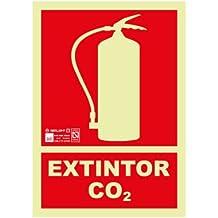 Astlight INC4067.7FJ Señal de Extintor co2 Fotoluminiscente, Multicolor