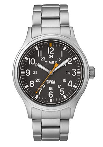 Timex Orologio Analogico Quarzo Uomo con Cinturino in Acciaio Inox TW2R46600