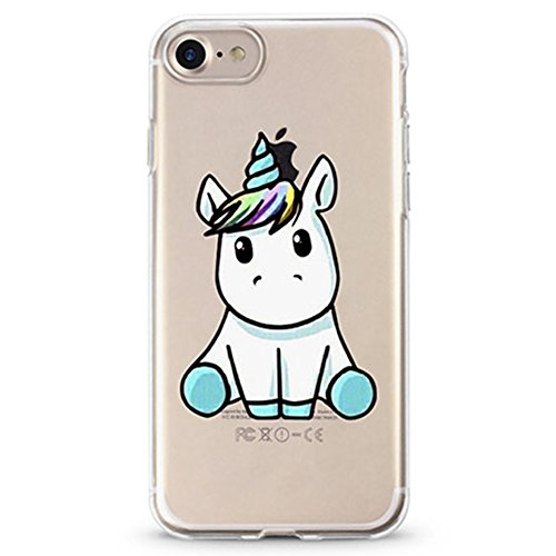 Panelize iPhone 7 Einhorn Hülle Schutzhülle Handyhülle Hard Case Cover Kratzfest Rutschfest Durchsichtig Klar (Einhorn Baby) Einhorn Baby