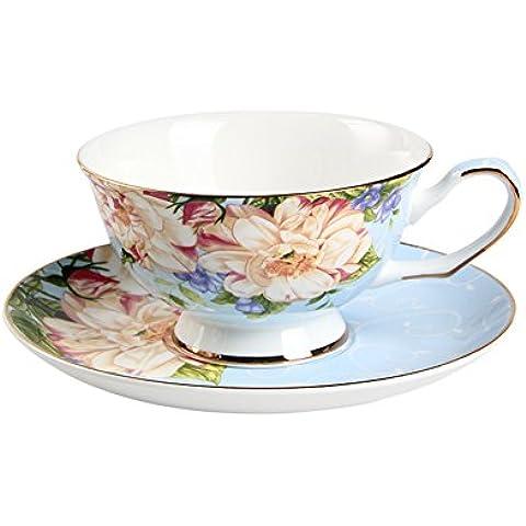 Estilo inglés por la tarde té té juego de jardín/ taza de café de cerámica Europea/ vasos de rojo hogar-A