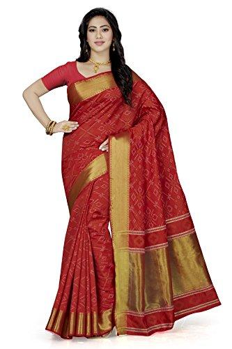 Rani Saahiba Patola Style Art Silk Saree ( SKR3144_Red )