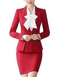 bd0ad0bdc70 SK Studio Femmes Blazer Tailleurs Pantalons De Bureau 2 Pièces Revers  Casual Costume Manteau
