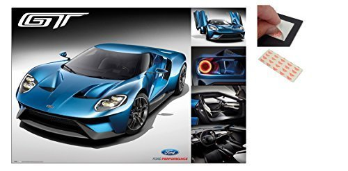 bundle-2-items-ford-gt-2016-supercar-poster-915-x-61cms-36-x-24-inches-and-a-set-of-4-repositionable
