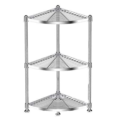 YANZHEN Küchen Schwerlastregal Speicher-Fach-Draht-Fachboden-stehendes Dreieck-Edelstahl, Lager 80KG, 2 Art 4 Größe (Farbe : Silver Mat Board, größe : 35x35x75cm) - Mat-board-speicher
